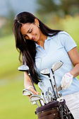 Female golf player — Stock Photo