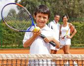 Giocatore di tennis maschile — Foto Stock