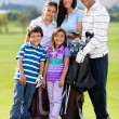 Family of golf players — Stock Photo #8901747