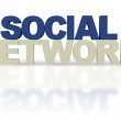 3D Social Network — Stock Photo