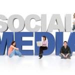 redes sociales 3D — Foto de Stock