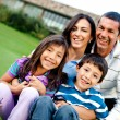 Happy family outdoors — Stock Photo #8901752