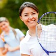 Female tennis player — Stock Photo #8901775