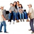 Family moving — Stockfoto