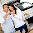 Couple moving home - Stock Photo