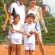 Royalty-Free Stock Photo: Tennis family