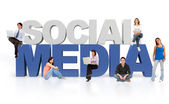 3d mediów społecznych — Zdjęcie stockowe