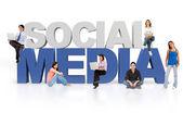 3d sociala medier — Stockfoto