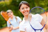 Giocatore di tennis femminile — Foto Stock