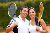 Tennis couple — 图库照片