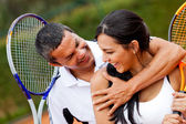 Tennis par flirta — Stockfoto