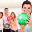 Man bowling — Stock Photo