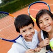 Young tennis players — Foto de stock #8927418