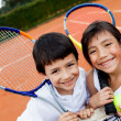 Foto Stock: Young tennis players