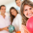 Woman bowling — Stock Photo #8927433