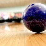 Purple bawling ball — Stock Photo #8927437