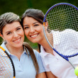 Beautiful tennis players — Stock Photo #8927487