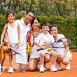 Tennis family — Stock Photo