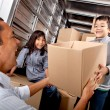 Stock Photo: Family loading truck