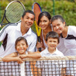 Stock Photo: Tennis family