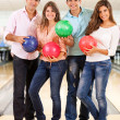 Friends bowling — Stock Photo #8927539