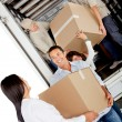 Stock Photo: Family moving house