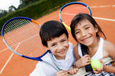 Young tennis players — Stock fotografie