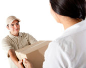 Delivering a package — Stock Photo