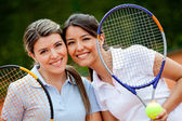 Beautiful tennis players — Stock Photo