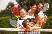 Grup tenis oyuncuları — Stok fotoğraf
