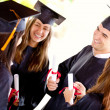 Greaduation students — Stock Photo