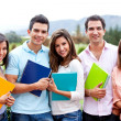 Group of students outdoors — Stock Photo