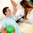 Team winning at bowling — Stock Photo