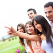 Group pointing — Stock Photo #8954053