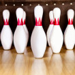 Stock Photo: Bowling pins