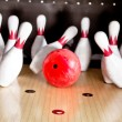 Stock Photo: Bowling strike