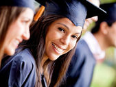 Woman in her graduation — Stock Photo