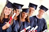 Group of graduate student — Stock Photo