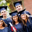 Group of graduate students — Stock Photo #8963141