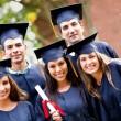 Группа студентов-выпускников — Стоковое фото