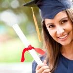 Woman at graduation — Stockfoto #8963142