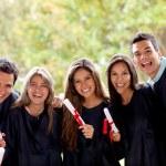 podekscytowany Grupa absolwentów — Zdjęcie stockowe