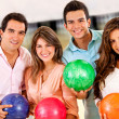 Friends bowling — Stock Photo #8963160