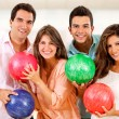 Stock Photo: Group of bowling