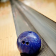 Bowling ball going on the canal - Stock Photo