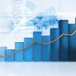 3D business chart — Stock Photo