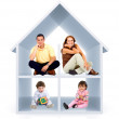 3D home — Stock Photo