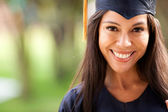 Beautiful woman graduating — Stok fotoğraf