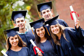 Group of graduate students — Stock Photo