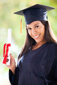 Girl graduating — Stock Photo
